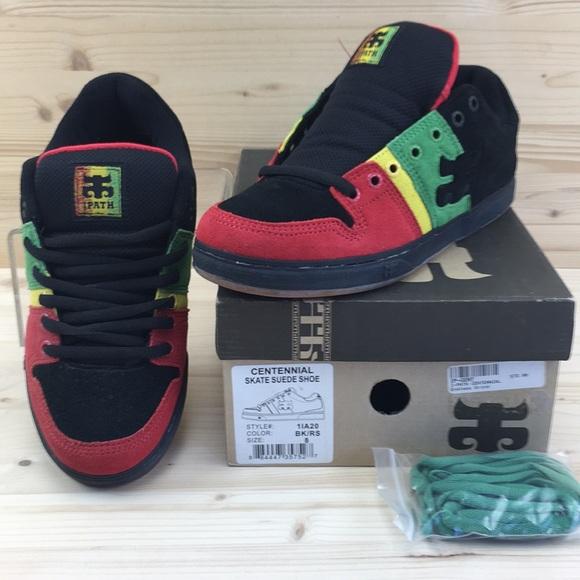 Black Rasta Suede Shoes Sz 8 Nib